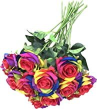 rainbow artificial flowers wholesale