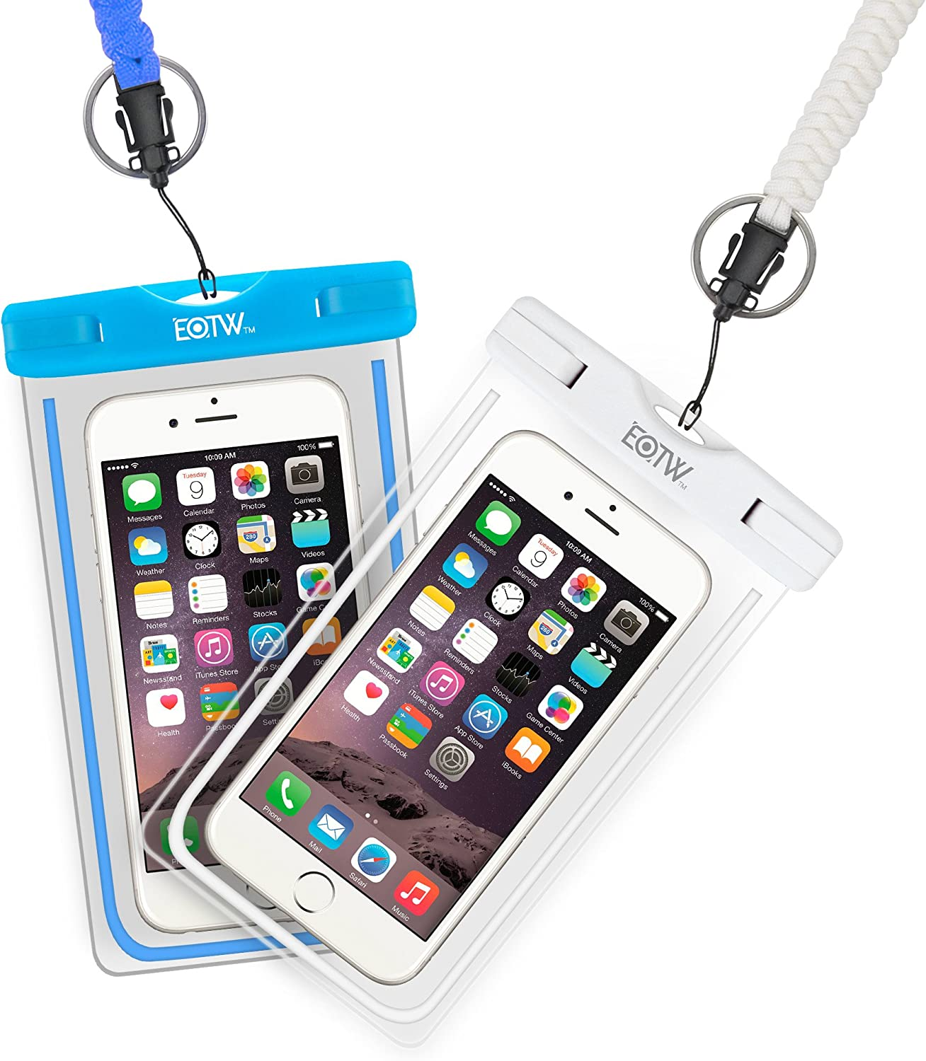 EOTW 2 Pack IPX8 Universal Waterproof Case Dry Bag Fit for iPhone 11/11 Pro Max/Xs Max/XR/X/8/8P Galaxy S20 up to 6.8