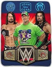 WWE Kids World Champs Silky Throw Blanket John Cena, Roman Reigns (40 in. x 50 in.)
