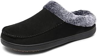 Mishansha Uomo Pantofole da Casa Caldo Memory Foam Ciabatte Antiscivolo Invernale