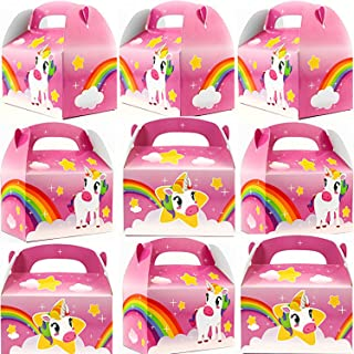 Adorox Set of 12 Unicorn Party Treat Boxes Birthday Party Favors Gift Bag Party Favor Bags Baby Shower Favors