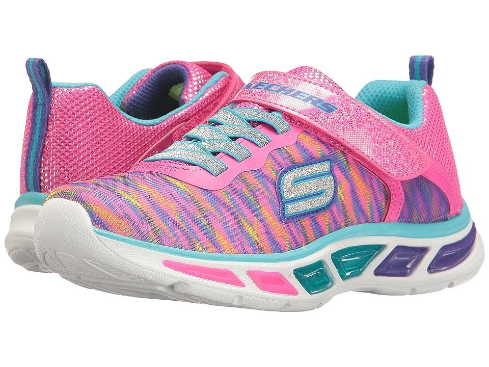 SKECHERS KIDS Lite Beams 10767L Lights (Little Kid/Big Kid) (Neon Pink/Multi) Girl's Shoes