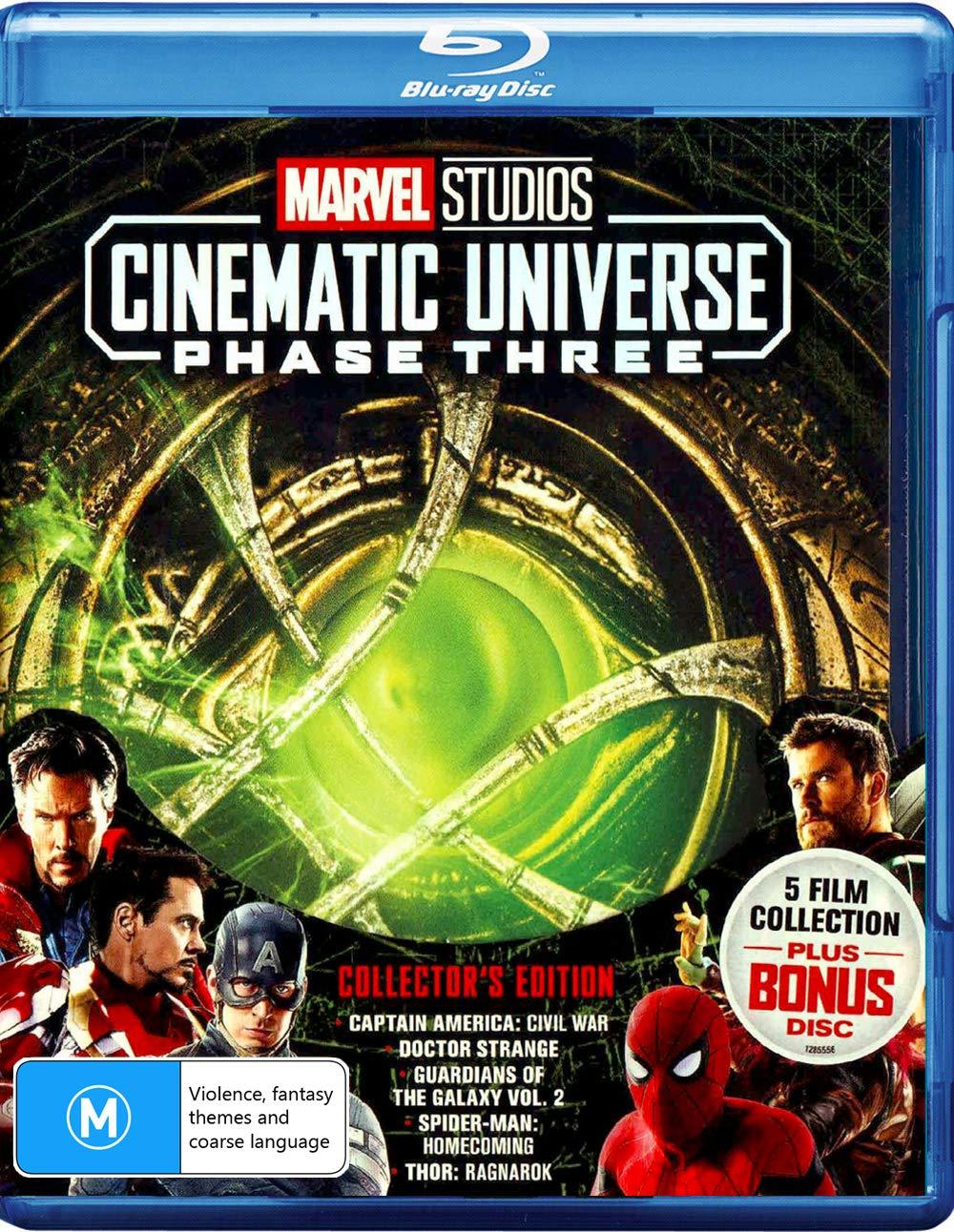 Marvel Phase 3: Part 1 (Captain America: Civil War / Doctor Strange / Guardians of the Galaxy: Volume 2 / Spider-Man: Homecoming / Thor: Ragnarok)
