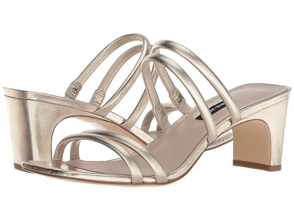 NINE WEST Womens Nakato Synthetic Heeled Sandal