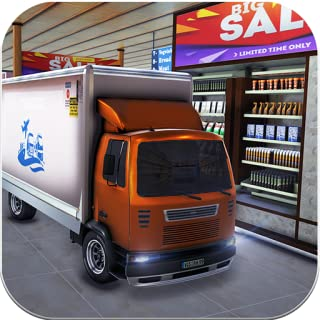Drive Thru Supermarket Cargo Transport Truck Driving Simulator 2019: Cash Register Shopping Mall Car Driver & Forklift Crane Operator Game