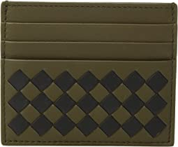 Intrecciato Check Card Holder