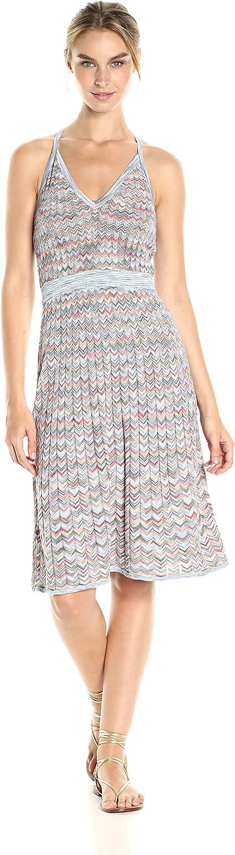 BCBGMAXAZRIA Womens Jenn Zig Zag Aline Knit Casual Dress Dress