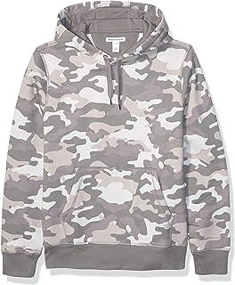 Amazon Essentials Men's Hooded Long-Sleeve Fleece Sweatshirt, Grey Camo X-Small
