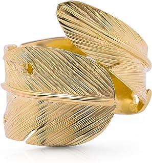 Koral 珠宝 14K 镀金羽毛戒指美国尺码 6 7 8 9