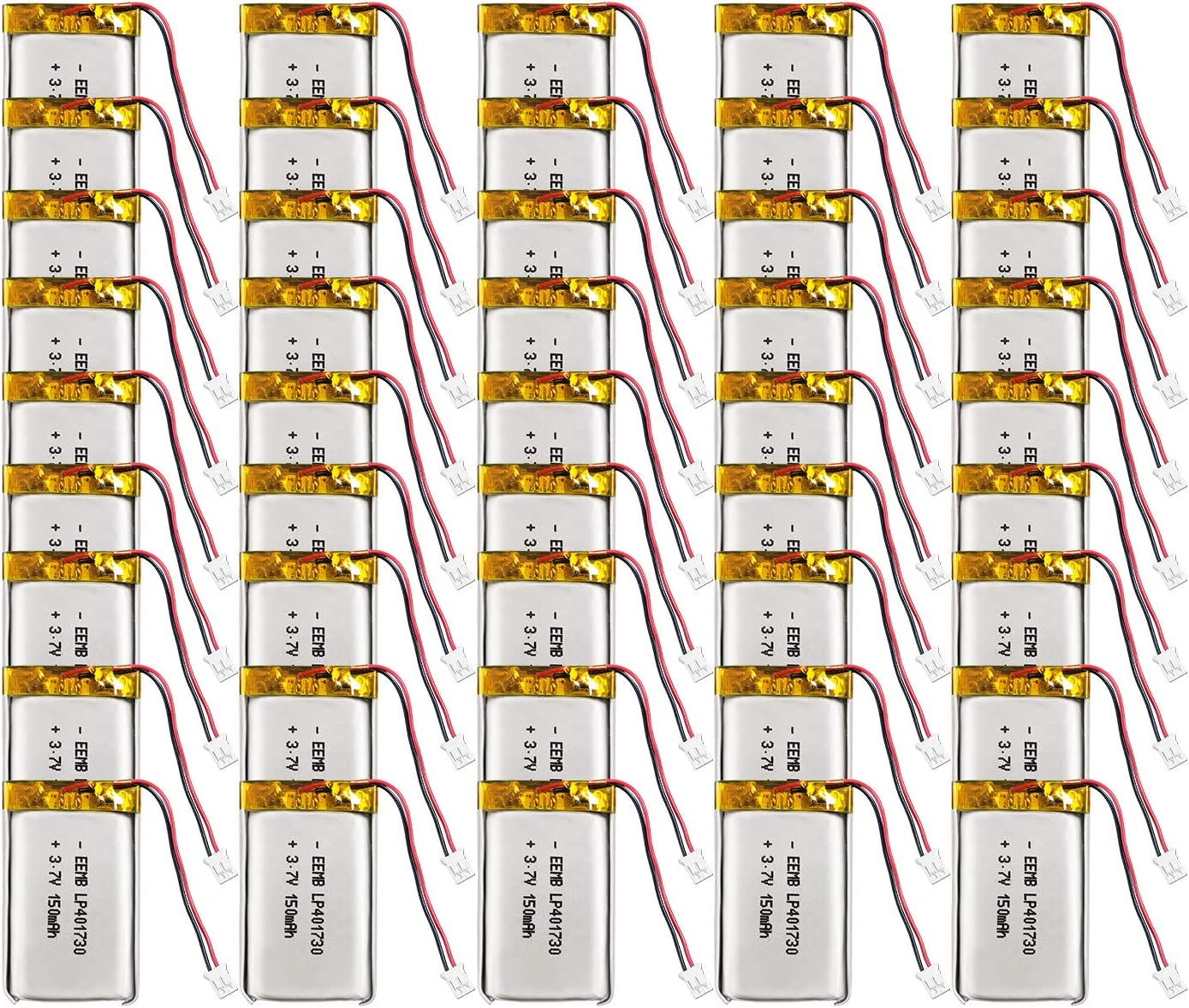 100X EEMB 3.7V Lipo Ranking TOP20 Battery Lithium 401730 Rechargeable Max 48% OFF P 150mAh