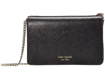 Kate Spade New York Spencer Chain Wallet (Black) Handbags