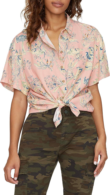 Sanctuary Women's Blouse Small Button Down Tie Front Shirt Pink S