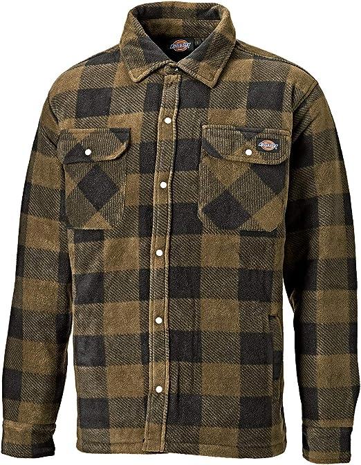 Dickies Portland Camisa Acolchado, Color Azul (Navy), L (44-46in)
