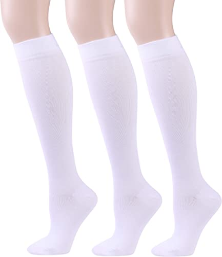 WXXM Compression Socks For Women Circulation-Best For Medical Running Hiking Cycling 15-20 mmHg