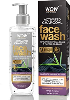 WOW Activated Charcoal infused with Activated Charcoal Beads No Parabens & Sulphate Face Wash (200mL)