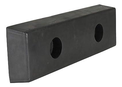 4.5 Depth 96 Width 4 Holes Fabric Reinforced Rubber Rectangular 10 Height Vestil 1096-4.5 Horizontal Laminated Dock Bumper