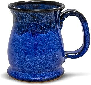 Handmade Stoneware Coffee Mug Blue Moon Glaze 16oz