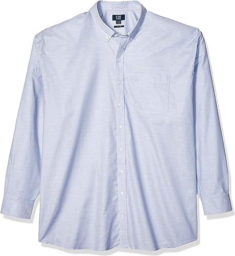 Cutter & Buck Hommes's Wrinkle Resistant Stretch manche longue Button Down Shirt, lumière bleu Oxford, 5X Big