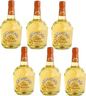 Granpecher - Licor de Melocotón sin Alcohol - 6 botellas x 700 ml - Total: 4200 ml