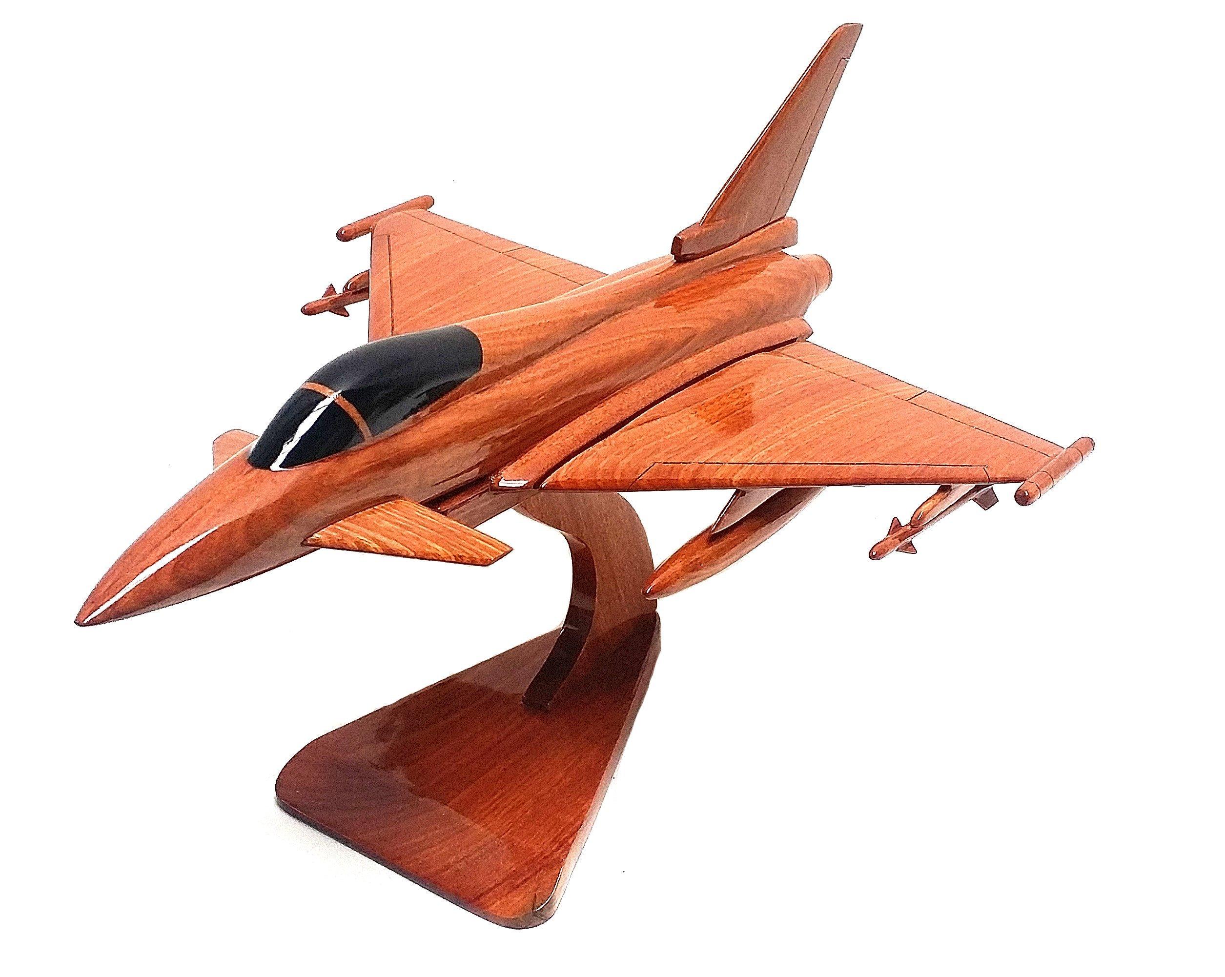 Eurofighter Typhoon EF2000 multifunción fighter Jet Military - - de sobremesa de madera con funda (madera de caoba): Amazon.es: Hogar
