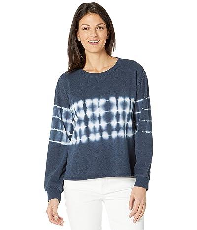 Vince Camuto Long Sleeve Tie-Dye Stripe Knit Top