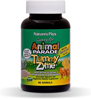 NaturesPlus Animal Parade Source of Life Children's Chewable Digestive Aid - Tropical Fruit Flavor - 90 Animal Shaped Tabl...