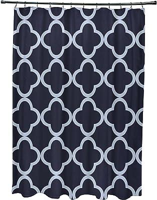 E by design Marrakech Express Geometric Print Shower Curtain, Bewitching