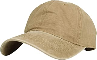 WITHMOONS Vintage Washed Twill Cotton Baseball-Cap Adjustable Dad-Hat KZ10032
