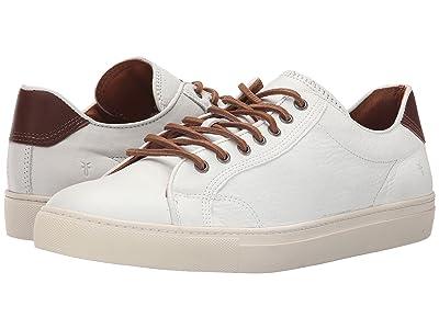 Frye Walker Low Lace (White Soft Full Grain Leather) Men