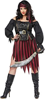 Women's Size Queen of The High Seas Plus Costume