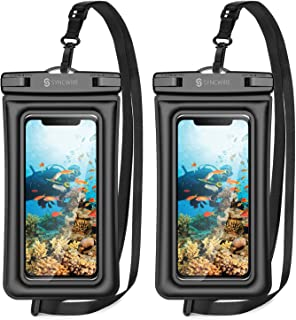 Syncwire Waterproof Phone Pouch, 2 Pack IPX8 Universal Waterproof Case Underwater Dry Bag Compatible with iPhone 12 SE2 11 Pro XS Max XR X 8 7 6s Plus Galaxy S10 S9 Note 10 Google Pixel Up to 7