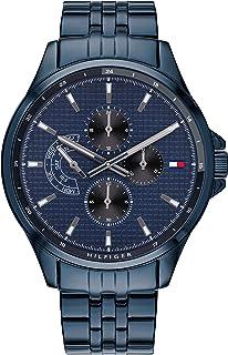 Tommy Hilfiger Men's Quartz Watch with Stainless Steel Strap, Blue, 21 (Model: 1791618)