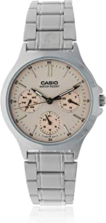 Casio Women's Pink Dial Stainless Steel Band Watch - LTP-V300D-4AUDF