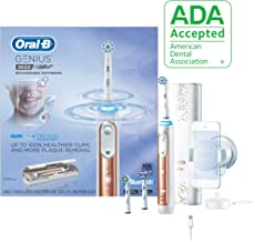 Oral-B 9600 Electric Toothbrush, 3 Brush Heads, Rose Gold, Powered by Braun