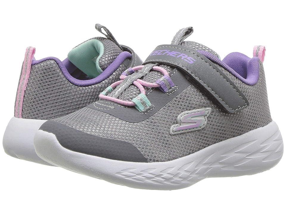 SKECHERS KIDS Go Run 600 Sparkle Runner (Toddler) (Gray/Multi) Girl