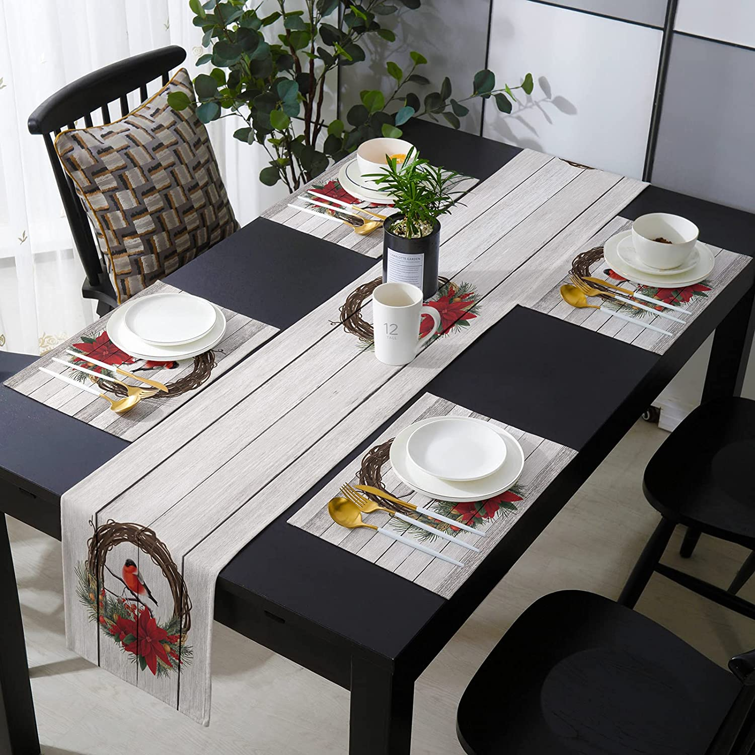 Los Angeles Mall 4 Placemats with Matching Table Runner Long Inches Ranking TOP10 Merry C 13x90