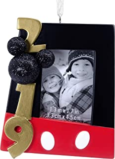 Hallmark Christmas Ornaments 2019 Year Dated, Disney Mickey Mouse Picture Frame Ornament