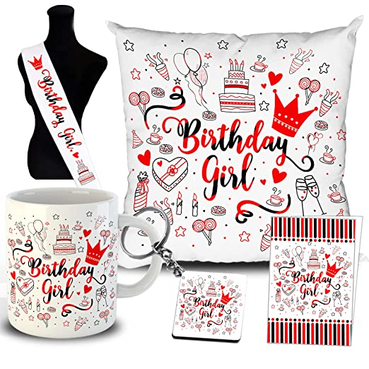 6 in 1 Birthday Gift for Girls Mug