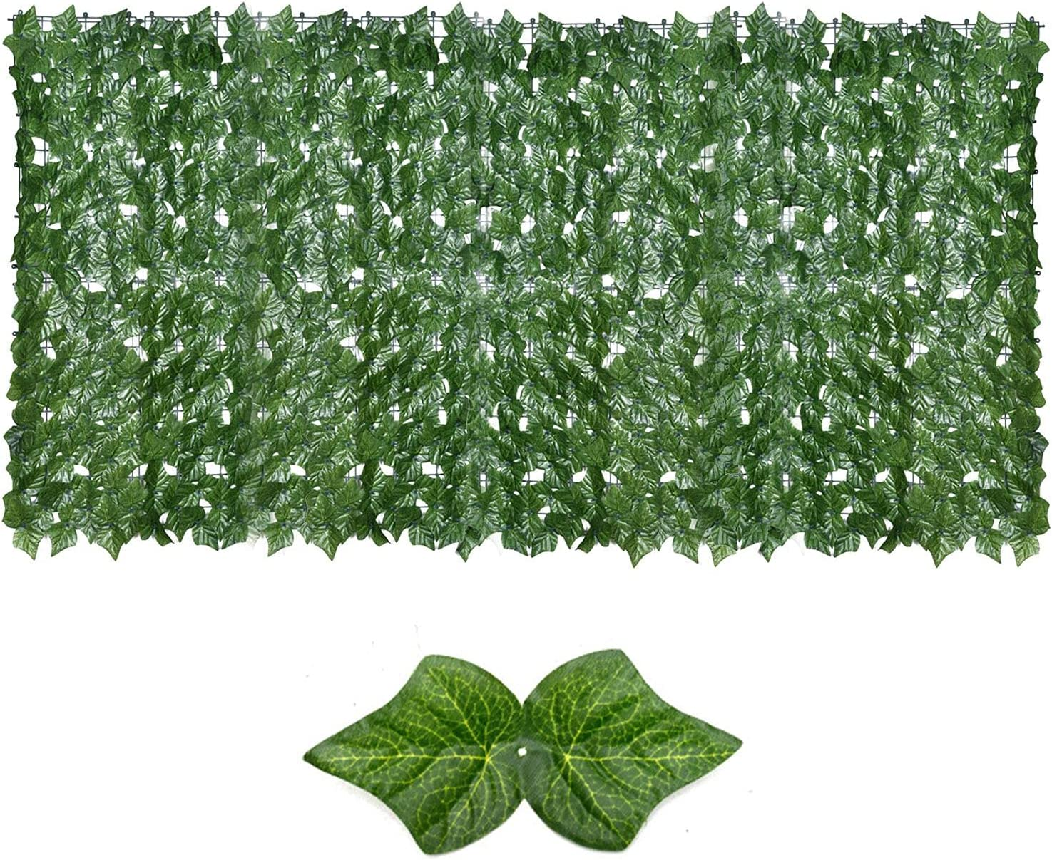 A R 40'' x 118'' Artificial Max 40% OFF Charlotte Mall Green Plan Panels Hedge Leaf Topiary