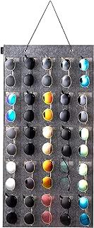 KGMcare Sunglasses Organizer Storage- Hanging Eyeglasses Wall Pocket Mounted,Eyewear Display,25 Slots(Gray, Large)