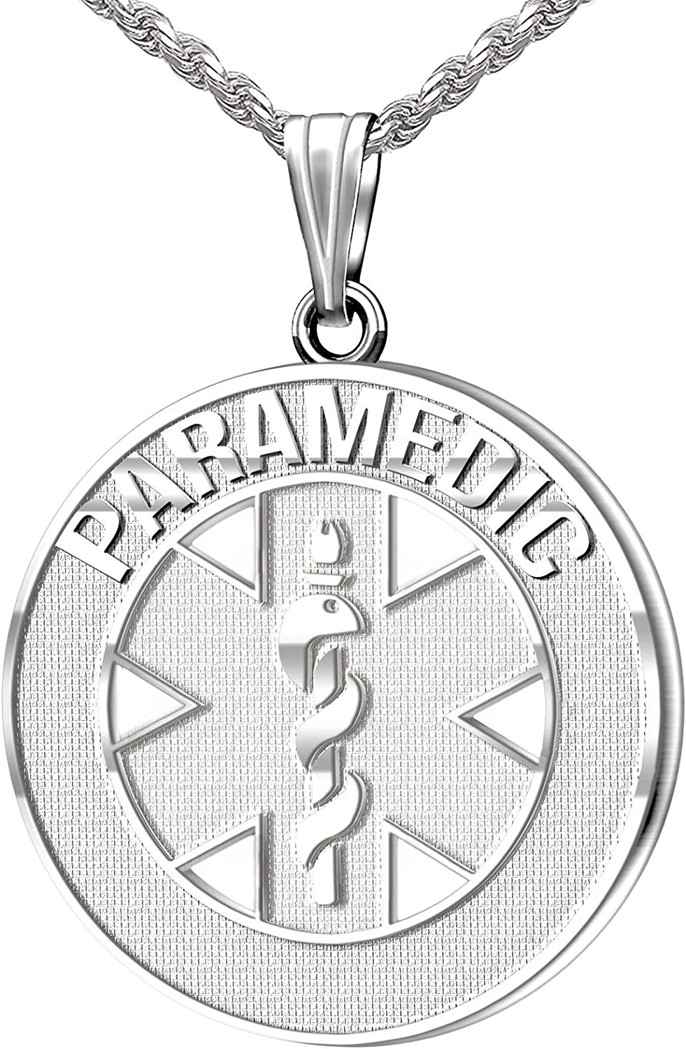 US Jewels and Gems 26mm 925 Some reservation Silver EMT Ranking TOP8 Sterling Medica Paramedic