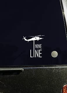 nine line window decal