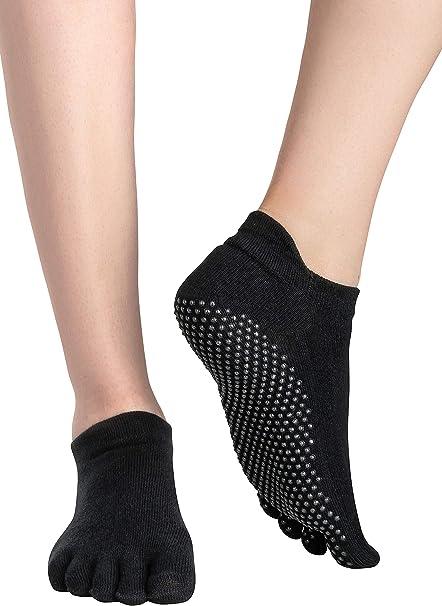 3 Paar Damen Yogasocken Sport Yoga Fitness Pilates Socken Antirutsch Stoppsocken