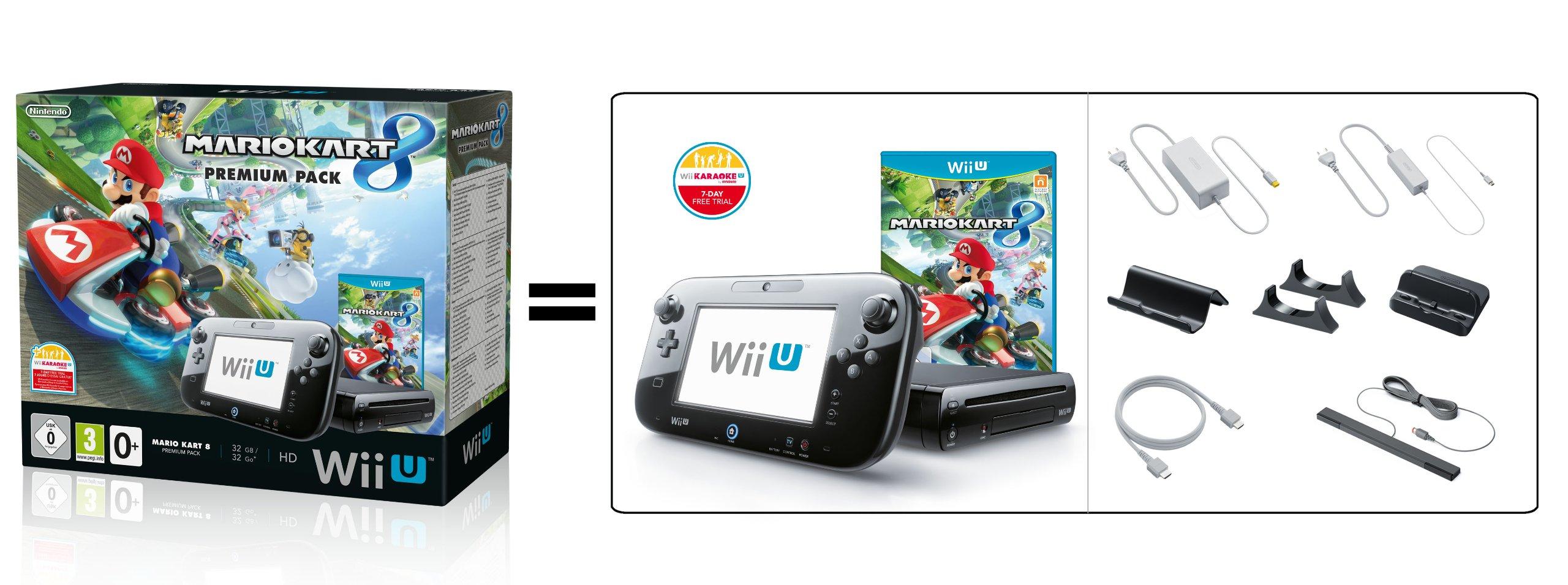 Nintendo Wii U 32GB + Mario Kart 8 Premium - videoconsolas (Wii U, Negro, DDR3, LCD, IBM PowerPC, AMD Radeon): Amazon.es: Videojuegos