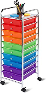 Honey-Can-Do CRT-02214 Rolling Office Organizer, 10-Drawer