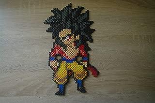 Sprite Goku SSJ4 - Dragon ball - perler beads/pixel art