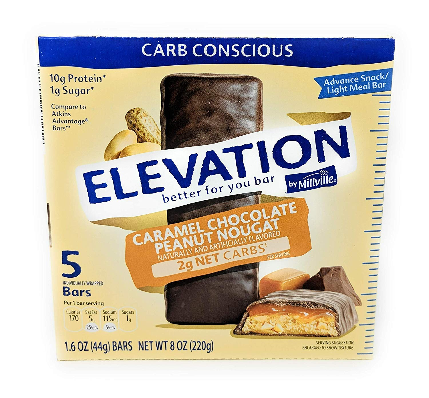 Millville Elevation Advanced Carb Conscious OFFicial mail Overseas parallel import regular item order Pe Chocolate Caramel