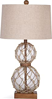 Bassett Mirror Company Seaside 28-inch Clear Glass Table Lamp