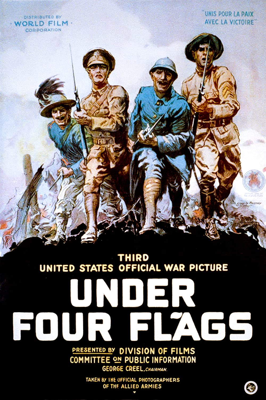 WW1 Propaganda Poster Max 84% OFF - Flags Four Under Under blast sales American