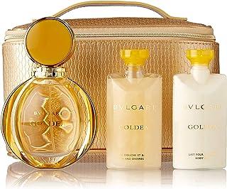 Bvlgari Goldea Gift Set for Women Eau de Parfum 90ml Spray + Body Lotion Perfumed 75ml + Gel 75ml + Travel Pouch